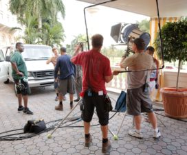 On location with Moving Picture Rental crew