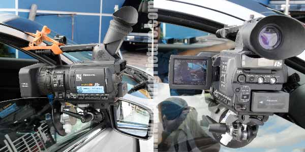 Car-Mounted HVX-200 on recent Ford Fusion Shoot
