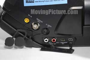 Sony PMW-EX3 Input/Outputs (Side View)