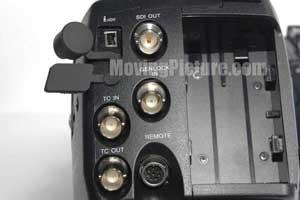 Sony PMW-EX3 BNC Inputs (Back View)