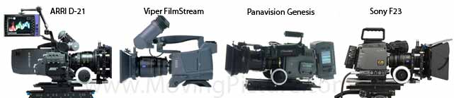 Currently there are several HD cameras competing to replace Film.